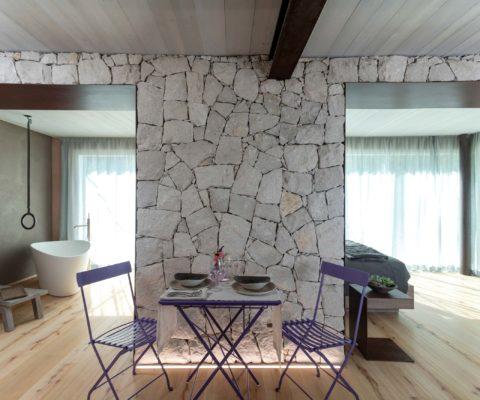 Soggiorno - biocertificata - Tulipa Natural Home - Mezzolago Apartments - Ledro (TN)