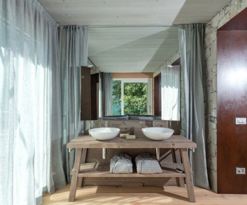 Bagno - arredamento biocertificato - Tulipa Natural Home - Mezzolago Apartments - Ledro (TN)