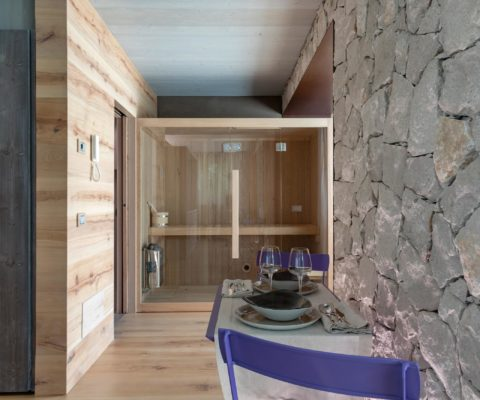 Sauna - biocertificata - Tulipa Natural Home - Mezzolago Apartments - Ledro (TN)